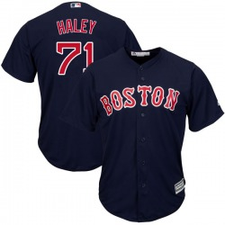 Justin Haley Boston Red Sox Men's Replica Cool Base Alternate Collection Majestic Jersey - Navy