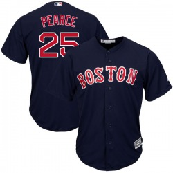 Steve Pearce Boston Red Sox Men's Authentic Majestic Cool Base Alternate Collection Jersey - Navy