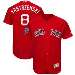 Carl Yastrzemski Boston Red Sox Youth Authentic Flex Base 2018 Spring Training Majestic Jersey - Red