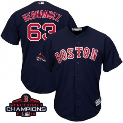 Darwinzon Hernandez Boston Red Sox Youth Replica Majestic Cool Base Alternate Collection 2018 World Series Champions Jersey - Na