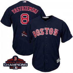 Carl Yastrzemski Boston Red Sox Youth Replica Majestic Cool Base Alternate Collection 2018 World Series Champions Jersey - Navy