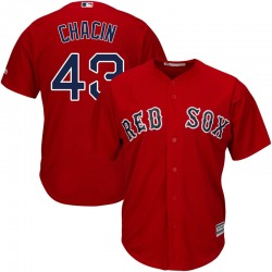 Jhoulys Chacin Boston Red Sox Men's Replica Majestic Cool Base Alternate Jersey - Red